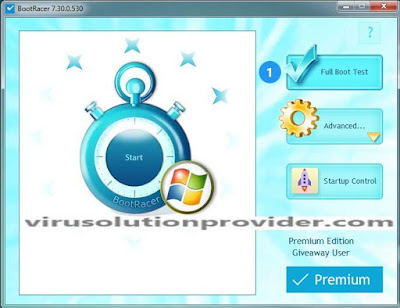 BootRacer Premium with License Serial Key on Virus Solution Provider
