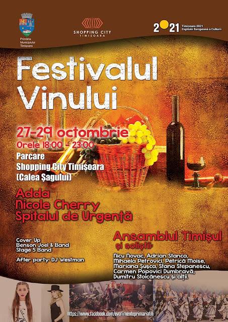 Festivalul Vinului. Muzică bună si preparate gustoase vă așteaptă weekend-ul acesta la Timișoara