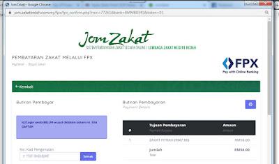 Isikan maklumat diri anda (FPX online payment)