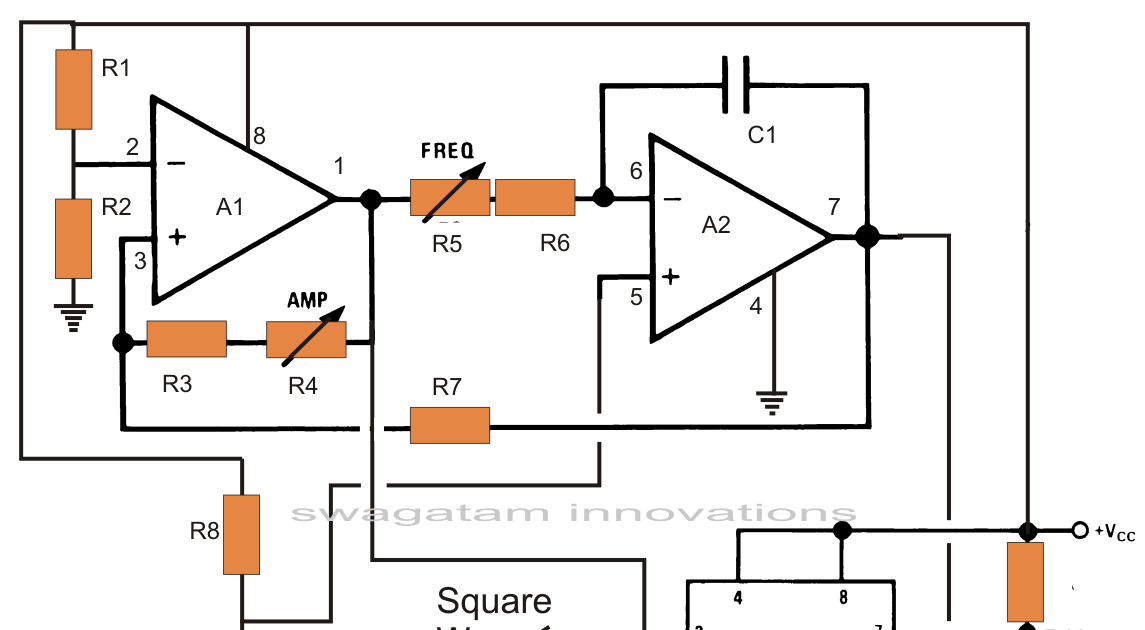 Pure Sine Wave Inverter Using Ic 555 Electronic Circuit