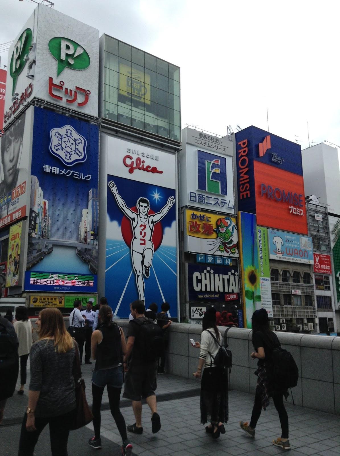Dotombori, Glico Man, Osaka, Ebisubashi