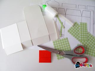 modello zainetto di carta