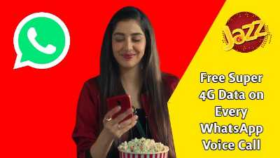 Jazz offers 65 MB 4G Data on every WhatsApp Voice Call