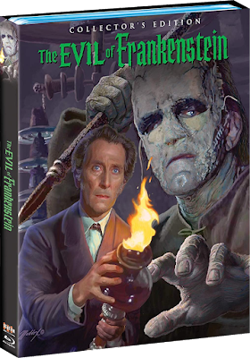 Cover art for Scream Factory's upcoming Collector's Edition Blu-ray of THE EVIL OF FRANKENSTEIN!