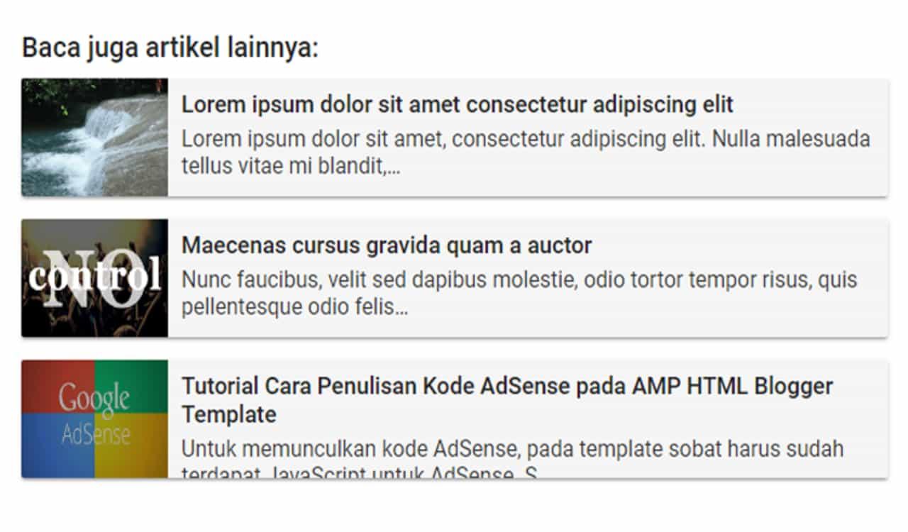Membuat Related Post Untuk Blog Valid AMP HTML Membuat Related Post Untuk Blog Valid AMP HTML
