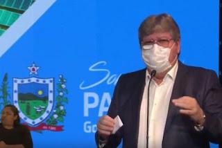 João Azevêdo destaca a importância do uso de máscaras e pede que paraibanos não abram mão do equipamento