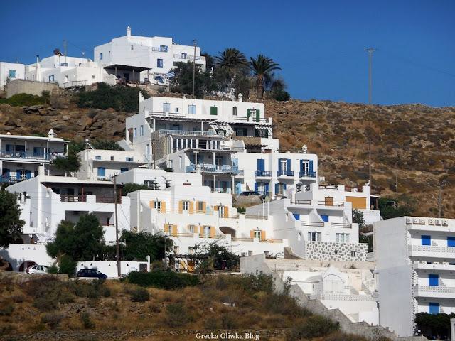 Kubistyczna zabudowa Cyklad Mykonos Grecja