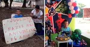 🔥 Niño de 5 años pide ayuda para su fiesta de Cumpleaños
