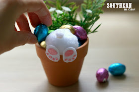 Easy Easter Craft Ideas for Kids - DIY Curious Bunny Pots - Unique Ways to Gift Chocolate Easter Eggs