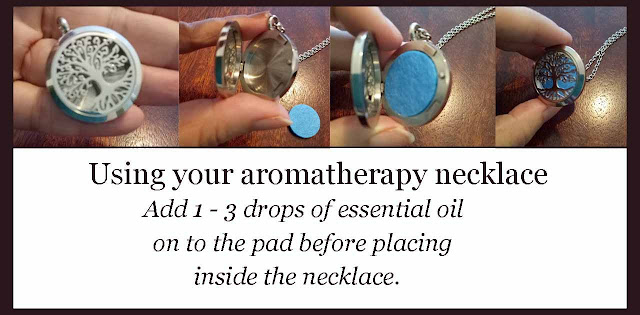 how to use your aromatherapy necklace