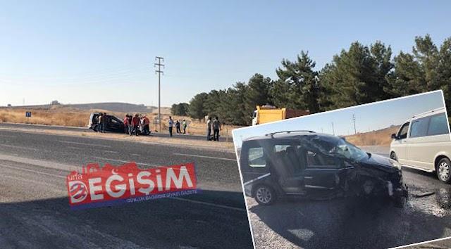 Bozova yolunda trafik kazası: 2 yaralı