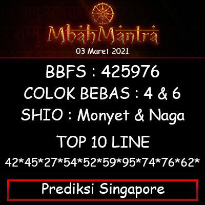 Prediksi Angka Singapore 03 Maret 2021