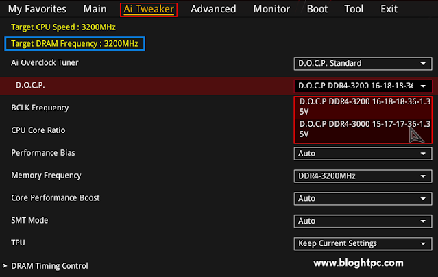 CONFIGURACION BIOS HyperX FURY DDR4 RGB