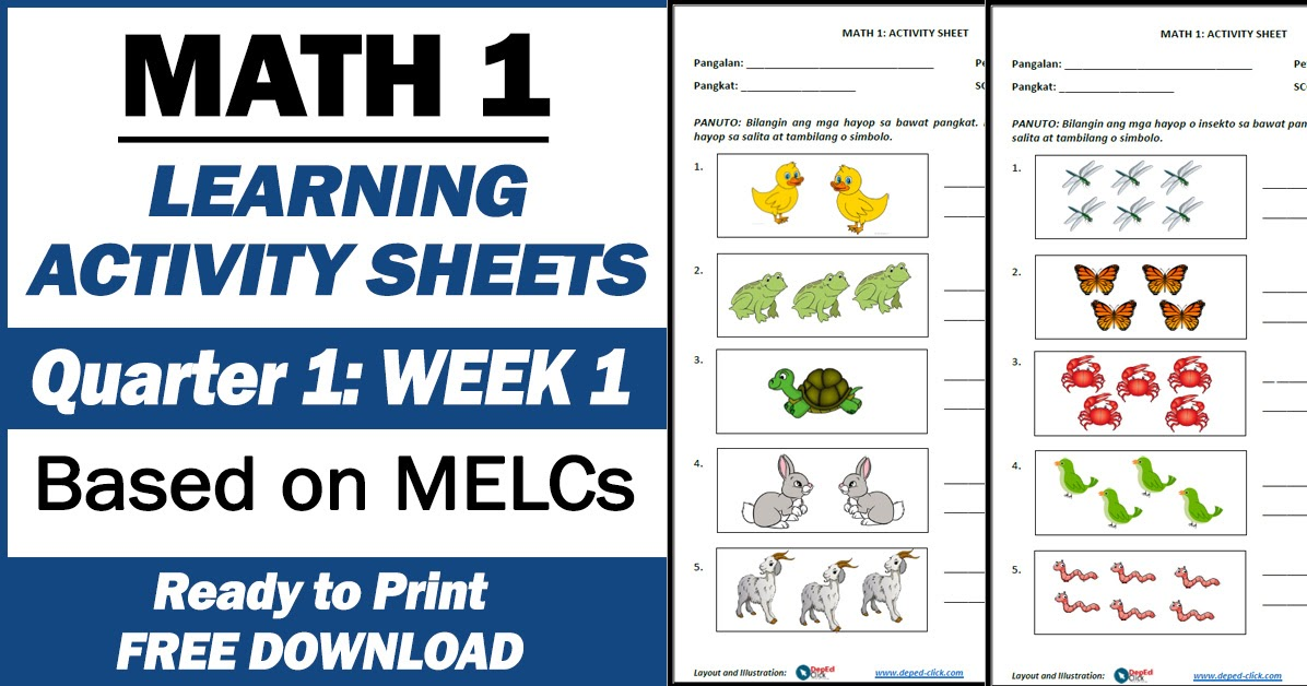 LEARNING ACTIVITY SHEETS In MATH 1 (Quarter 1: Week 1) Free Download -  DepEd Click