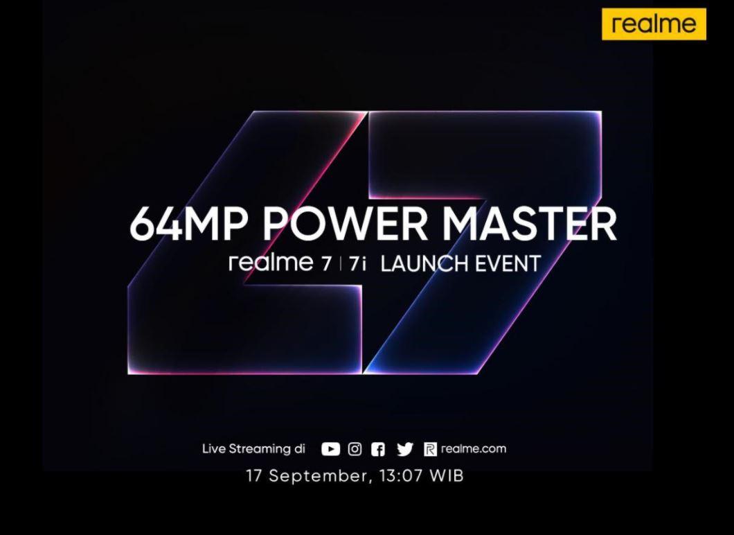 Realme 7 dan Realme 7i Dipastikan Meluncur di Indonesia 17 September 2020