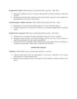 Social Worker Resume Summary