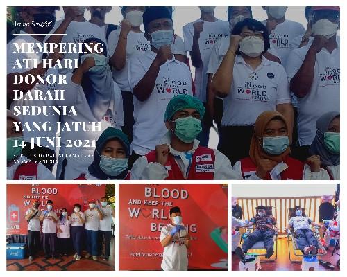 Peringati Hari Donor Darah Sedunia, Aruna Senggigi dan PMI Lombok Barat Gelar Aksi Donor Darah