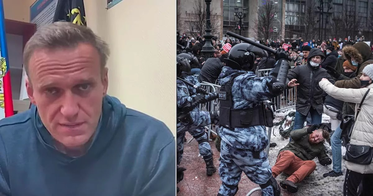 3,000 Arrested Including Alexei Navalny's Wife At 'Free Navalny' Protests Across Russia