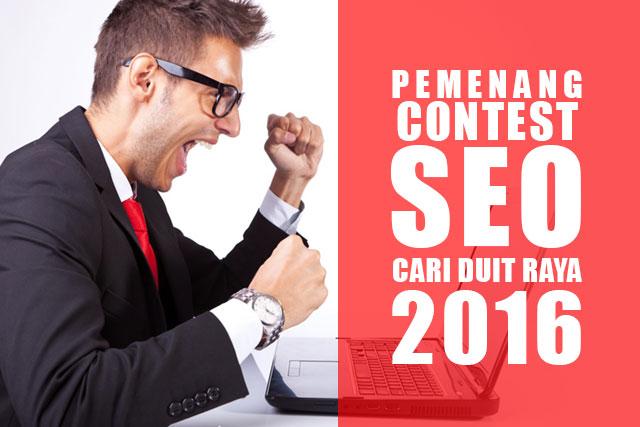 """Pemenang """"Contest SEO Cari Duit Raya 2016"""""""