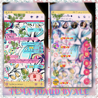 Butterfly At Flowers Theme For YOWhatsApp & Fouad WhatsApp By Ale