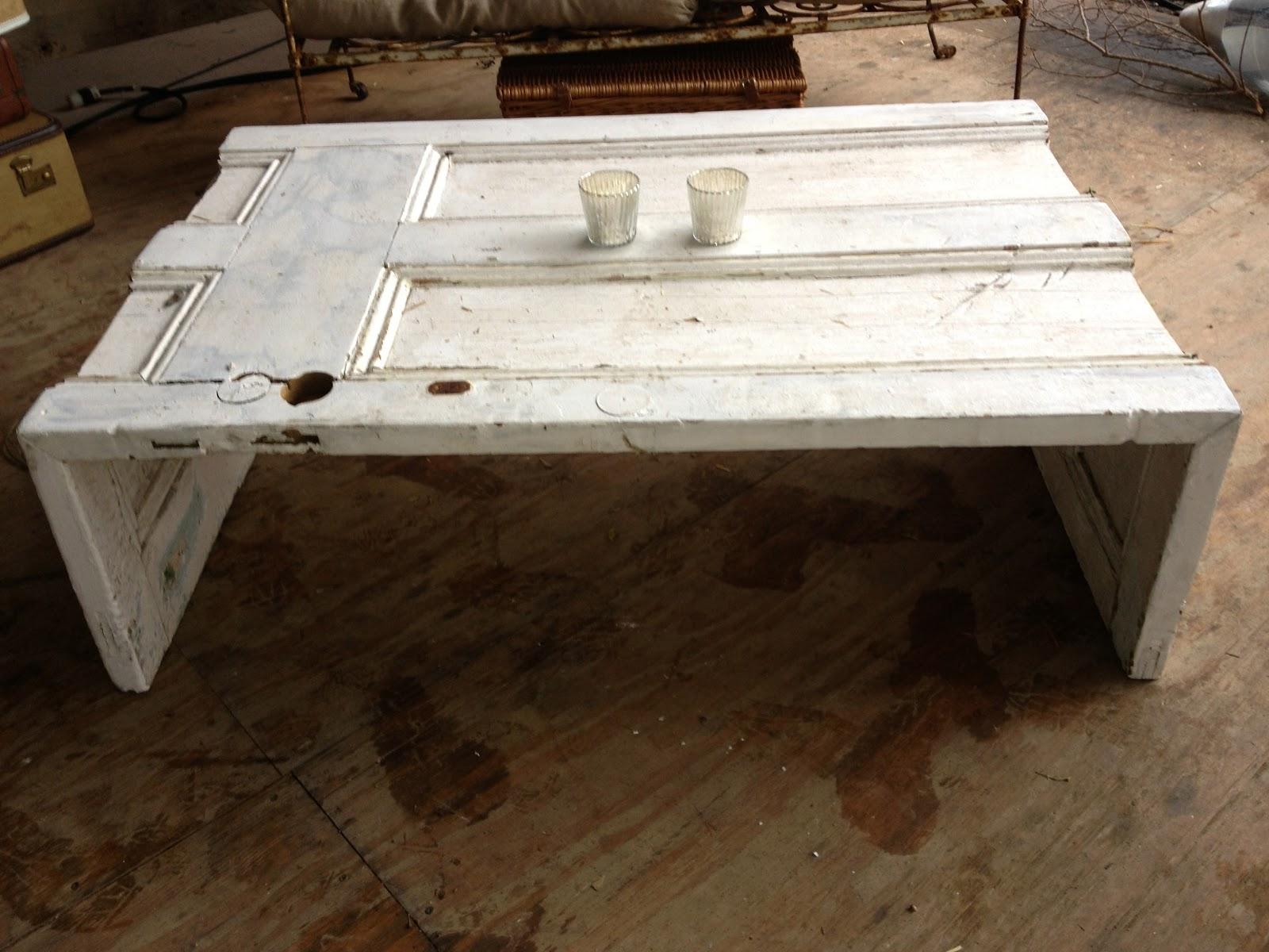 VINTAGE VIGNETTES: Antique door coffee table
