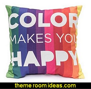 Color Makes You Happy Decorative Pillow