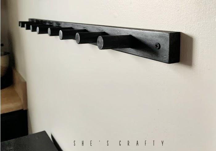 Simple peg rack instructions  -  black peg rack hanging storage