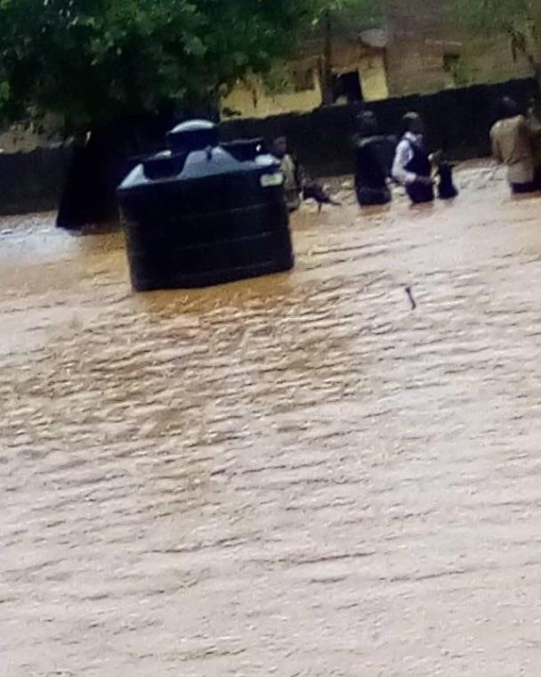 Church In Ijebu Ode Flooded As Apostle, Others Walk Through Flood To Church (PHOTOS)