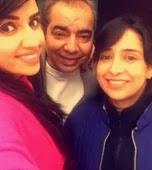 Shirin Sewani with her parents