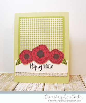 Poppy Birthday card-designed by Lori Tecler/Inking Aloud-stamps and dies from Verve Stampms