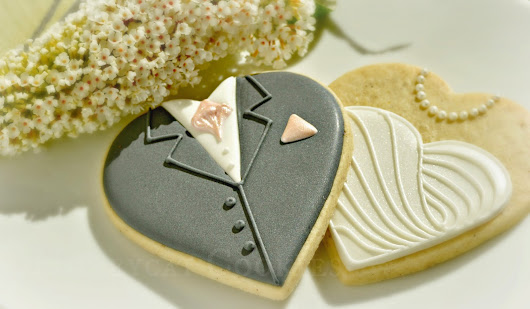 Groom on a heart cookie tutorial