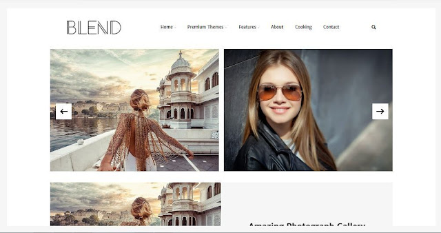 Blend - Template Blog Simple Sederhana Gratis