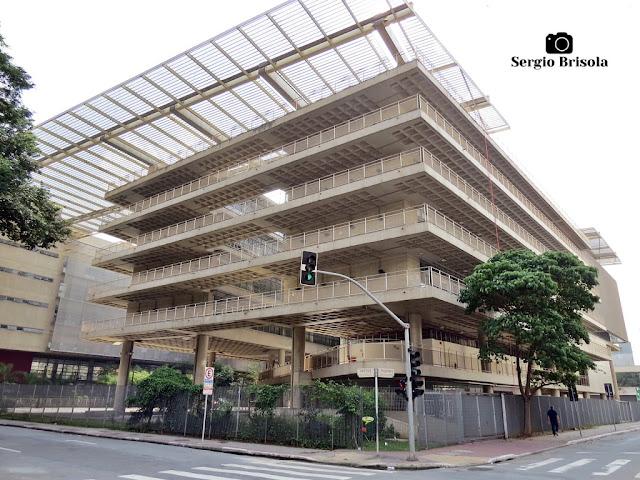 Vista ampla de parte do complexo da ETEC Santa Ifigênia - Santa Ifigênia - São Paulo