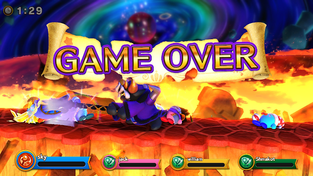 Super Kirby Clash Game Over King D-Mind