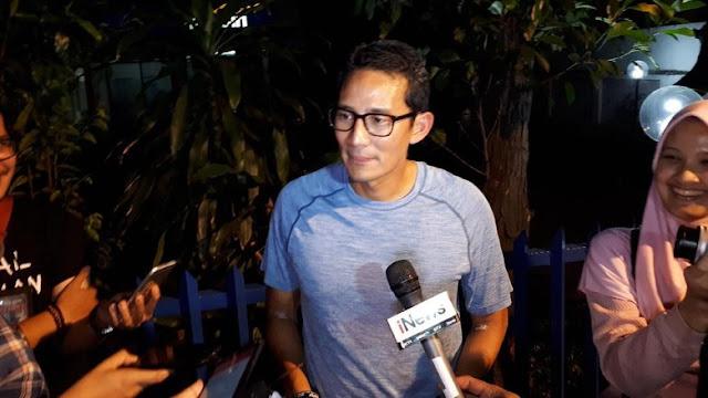 Sandiaga Memberi Pesan ke Prabowo Agar Tidak Komentar Negatif Untuk 3 Minggu ke Depan