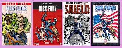 portadas del cómic de superhéroes Nick Furia, Agente de SHIELD