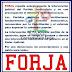 Forja expresó apoyo a las autoridades del PJ Nacional