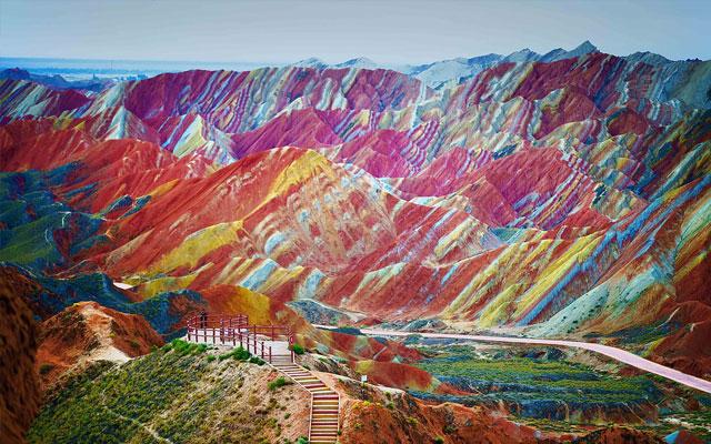 Gunung Pelangi, Tiongkok