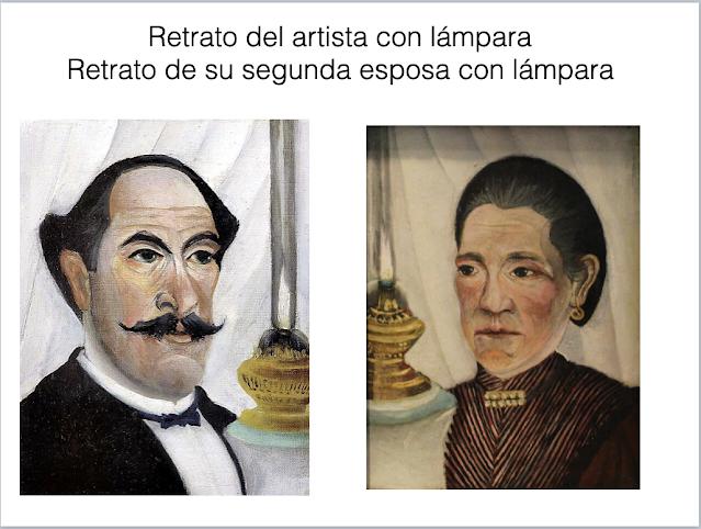 retrato del artista con lámpara