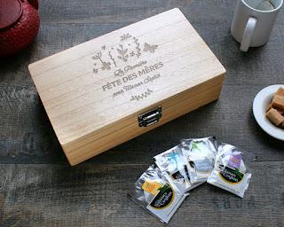 boîte à thé personnalisée pour la fête des mères