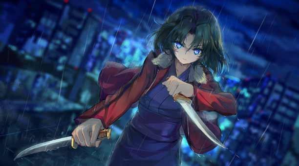 Karakter Anime Pengguna Pisau - Shiki Ryougi