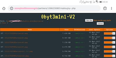 Tampilan Shell Backdoor - Upload Sukses