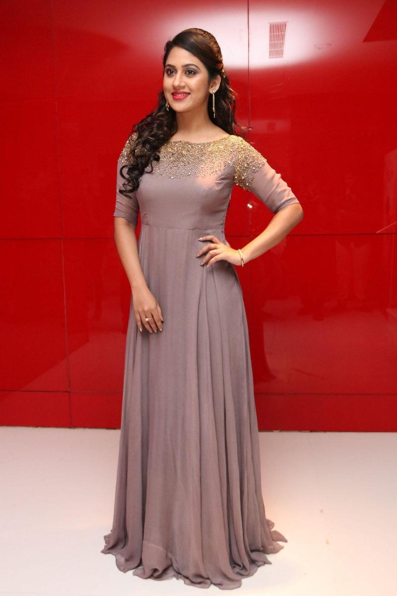 Actress Mia George New Photos In Violet Dress