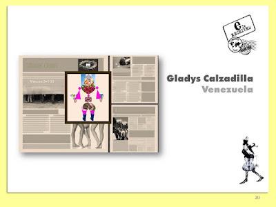 Gladys Calzadilla, Máquina de Ego, Collage Digital, Arte Postal, Espacio 2C, Exposición Colectiva #CadaverExquisito #MailArt en #sanmigueldearbona #BacosSanMiguel Tenerife