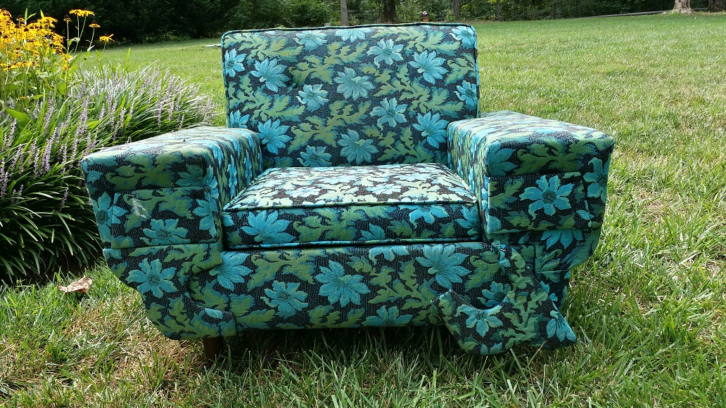 Just the Right Size: Ugly Furniture Series: Blue Chair