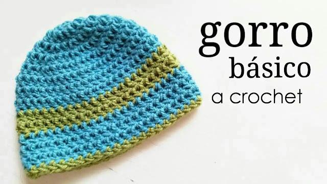 Tutorial gorro básico para todas las tallas a crochet