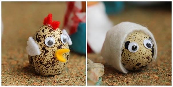 pollito pesebre huevos