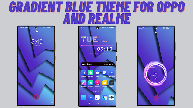 Chủ đề Gradient Blue cho Oppo và Realme || chủ đề realme || chủ đề oppo ||