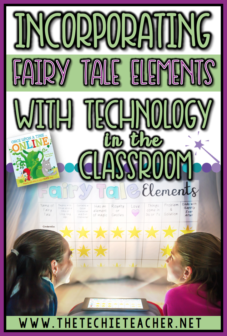 Incorporate fairy tale elements with technology in the classroom with these before, during and after reading activities that you can use with the children's book, Once Upon a Time Online. An important message about digital citizenship is shared. Technology in the classroom