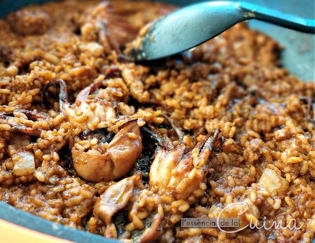 Arròs, popets, cansalada Porc Ral, cuina casolana, l'essència de la cuina, blog de cuina de la Sònia